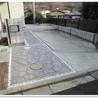スタンプコンクリートのアプローチ